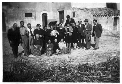 Historiskt foto från Caruso & Minini vingård, Sicilien, Italien.